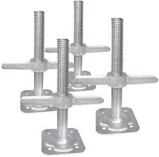 Adjustable 6 in. Range Leveling Scaffolding Screw Jack with Base Plate (4-Pack)