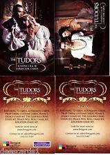 THE TUDORS SEASON I II & III PROMO CARD LOT (2)  #PHILLY SHOW & NO #