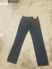 Levis 504 Mens Jeans Waist 34in Leg 34in W34 L34 Straight Fit Dark Blue 34x34