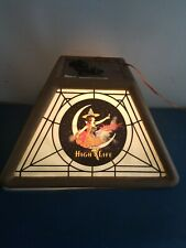 (Vtg) 1983 miller high life beer girl on the moon pool table light up bar sign