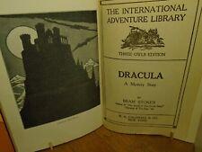 Bram Stoker DRACULA, 1st Illustrated Edition, Third Edition, NY1910, W.R.Caldwel