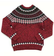 Vintage Men's Woolrich Knit Sweater Small Winter Red Christmas 9101
