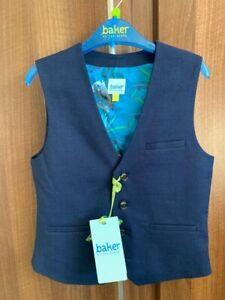 Ted Baker Boys Waistcoat Rrp £32 Blue Aged 6