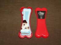 5 1/2' HIGH  UMBRA BOW WOW DOG BONE SHAPE PLAYING CARDS in PLASTIC CASE