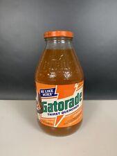 Vintage Michael Jordan Olympic Dream Team Orange Gatorade Glass Bottle.