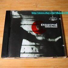 Censored - System Disease 2002 CD Heavy Metal #K01