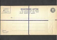 GB Postal Stationery 1954 QEII 81/2d grey Registered Envelope size K H&B RP73