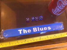 The Blues Football Blue Snap Bracelet High Quality Fold Plastic Wristband