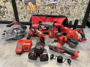 NEW!!! MILWAUKEE Fuel M18 5AH Brushless x8 Tool Combo Kit in Bag