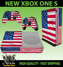 XBOX ONE S SLIM Console Sticker USA Flag United States America SKIN & PAD SKINS