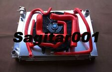 Aluminum Radiator + Shroud + Fan + Red hose for HOLDEN VN VP VR VS V8 5.0