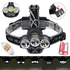 80000LM XML 5T6 LED Headlamp Headlight Rechargeable Light+USB Cable+18650Battery