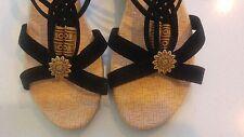 Wedge Elastic Rubber Sandals & Flip Flops for Women
