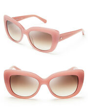 NWT Kate Spade Ursula/S Brown Gradient Lens Pink Rose Jade Cat Eye Sunglasses