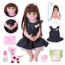 22''Full Body Silicone Lifelike Reborn Doll Baby Toddler Girl Bath Toy Xmas Gift