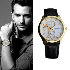 Men's Fashion Retro Design Watches Leather Band Analog Alloy Quartz Wrist Watch