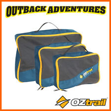 OZtrail SET OF 3 NAVY CAMP TRAVEL PACKING CUBE - SMALL MEDIUM LARGE CUBES