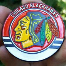 PREMIUM NHL Chicago Blackhawks Poker Card Guard Chip Protector Golf Marker Coin
