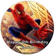 """SPIDERMAN personalizzati CAKE TOPPER 7,5 """"wafer commestibile carta festa di compleanno"""