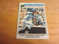 George Brett 1977 O-Pee-Chee #261 Record Breakers Card MLB Baseball Royals