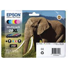 Original EPSON Elephant 24XL 6 Colour Multipack Ink Cartridges XP-750 XP-960 860