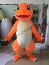 Halloween Charmander Pokemon go pikachu Mascot Costume Fancy Dress New Adult