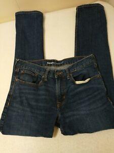 Old Navy Men's Jeans 32X32 Blue Slim Fit Measures 32X31 Dark Denim Regular