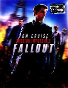 NEW Mission: Impossible - Fallout XL Lenticular SteelBook Blu-ray FilmArena FAC