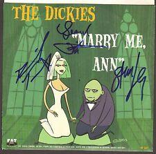 THE DICKIES Stan Lee, Leonard Phillips +1 Signed 45 RPM Album Sleeve JSA #Z21723