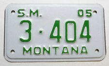 Plaque d Immatriculation de moto USA Montana ( 2005 - M019 )
