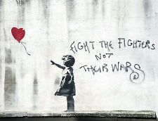 A4 BANKSY ART PHOTO PRINT FOR 99P (DISMALAND FIGHT THE FIGHTERS),