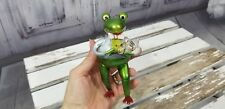 Holiday Christmas Ornament Frog Toad Musical Instrument horn chorus