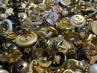 HOT! MIXED LOT All Kinds Of GOLD & ANTIQUE GOLD Buttons All Sizes
