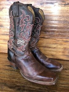 Women's Tony Lama 100th Anniversary Embroidered Cowgirl Boots Size 8.5 B