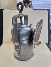 Vintage Steel Wolf - Style Carbide Miners Lamp.