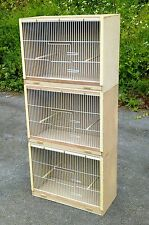 "3 x Single Budgie Breeding Cage Cages  25"" x 18"" MULTIBUY OFFER!!"