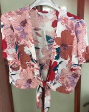 Bnwt Debenhams Size 14 Floral Crop Cardigan Shawl - Wedding Christening Summer