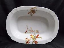 """Schwalb Brothers (BSM), Coral Flowers: Oval Serving Bowl 9 7/8"""" As Is, Design #2"""