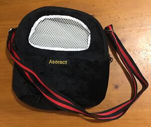 Asoract Small Pet Carrier Bag, Black (OPEN)