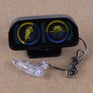 Universal 12V Car Angle Tilt Inclinometer Balancer Backlight Slope Meter Gauge