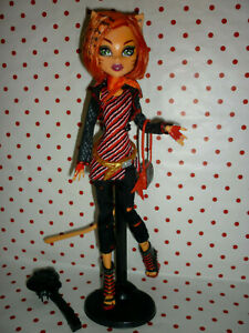 Monster High First Wave Toralei Stripe Doll inc' Stand & Accessories