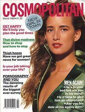 COSMOPOLITAN MAGAZINE MARCH 1990 SUZANNE LANZA COVER