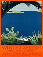 TRAVEL YUGOSLAVIA WINTER RESORT ADRIATIC SEA RIVIERA ART PRINT POSTERBB7722B