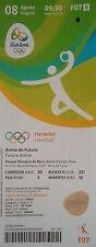Billet 8/8/2016 Rio Jeux Olympiques Handball Femme Corée du Sud vs Suède # F07