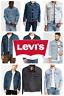 Levis Men's Trucker Jacket Denim Cotton Button Denim Trucker Jacket Many Colors