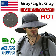 Men Women Bucket Hat Fisherman Cap Fishing Boonie Brim visor Sun Safari Camping