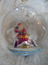 Komozja Santa On The Roof Glass Ornament Nib