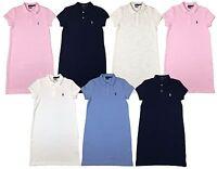 Ralph Lauren Polo Womens Pony Logo Mesh Mini Dress Navy/White/Pink/Blue New