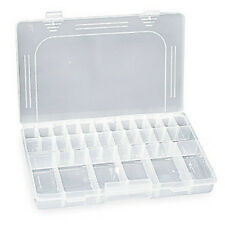 (20) Clear Plastic Large Accessories and Parts Organizer Compartment Box Tray