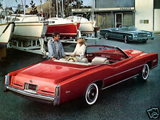 1976 Cadillac Eldorado Convertible, Red/White, Refrigerator Magnet, 40 MIL